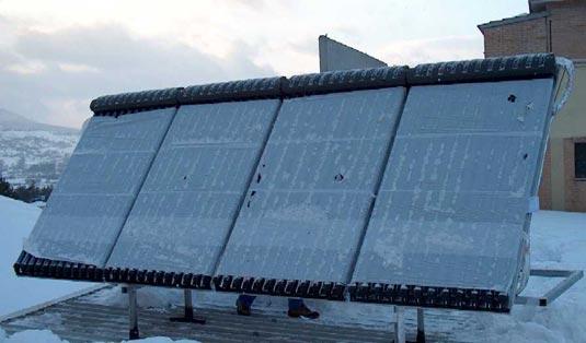 Centro benessere con solare termico