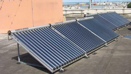 Impianto solare termico presso il Porto di Pescara