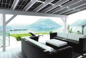 Solarwatt fotovoltaico veranda system per pensiline