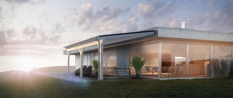 Tettoia fotovoltaica Veranda System di Solarwatt