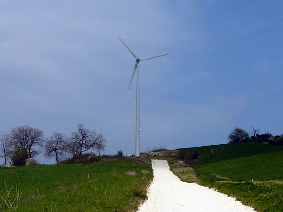 Small wind turbine project in Abruzzo