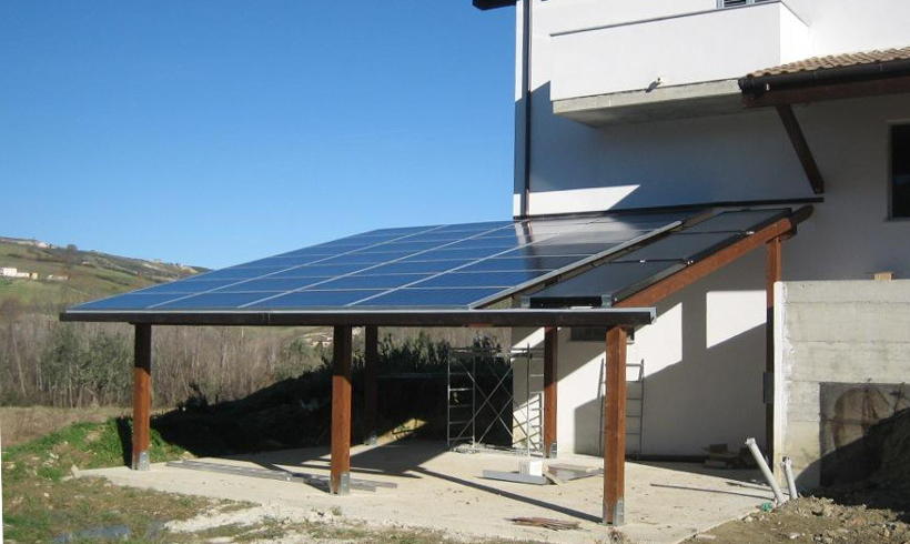 Pannello Solare Per Tetto Auto : Pensiline e tettoie fotovoltaiche icaro srl