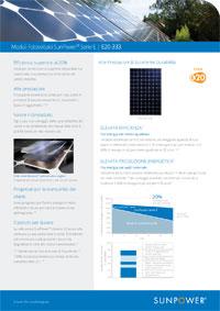 Scheda tecnica del modulo Sunpower E20 333W