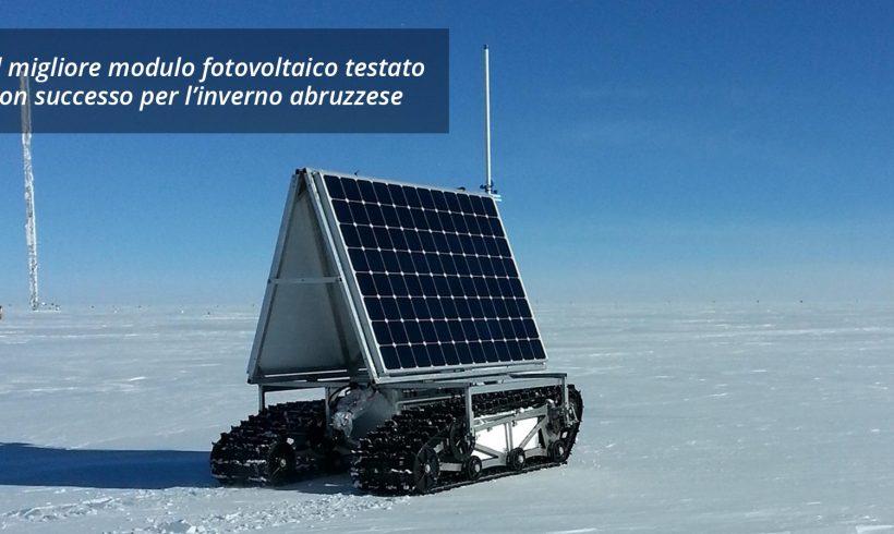 Il modulo fotovoltaico che non teme l'inverno abruzzese