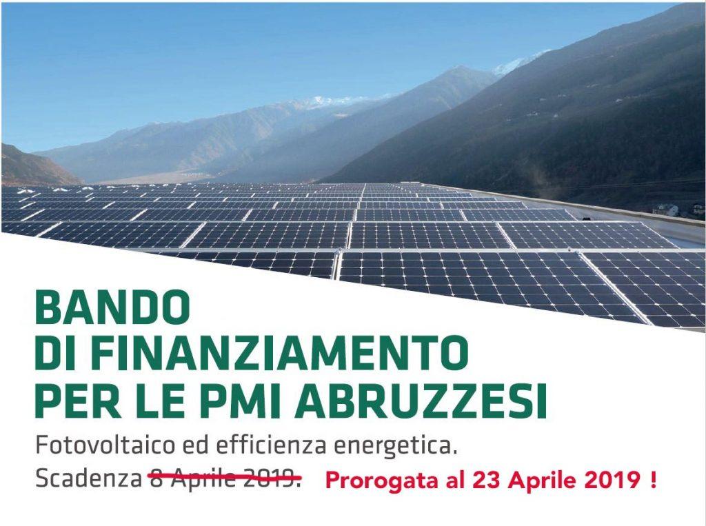 Incentivi 2019 per il fotovoltaico per le PMI in Abruzzo