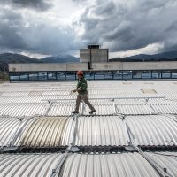 Lavorazione vetro con l'energia rinnovabile presso Farglass (AQ)