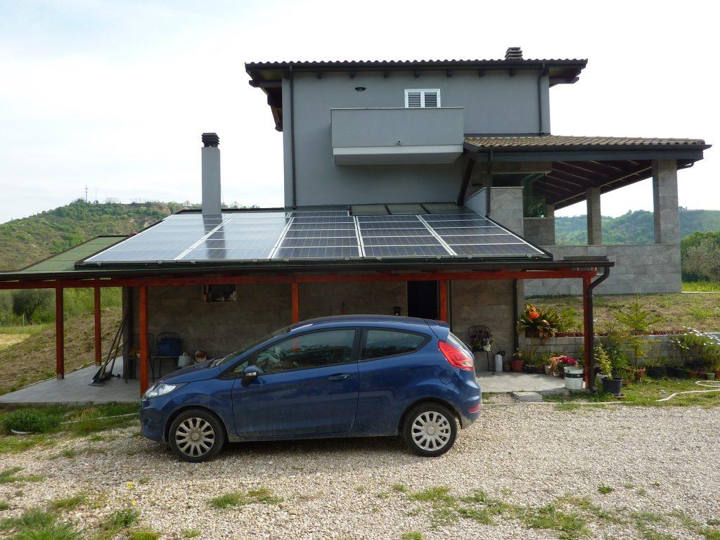 Impianto fotovoltaico a Corropoli da 5,46 kW.