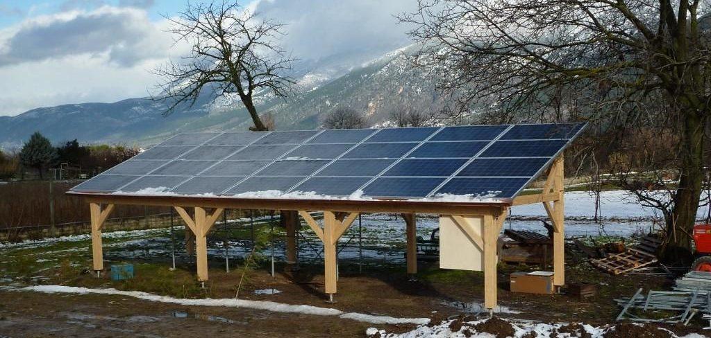 Tettoia fotovoltaica a Sulmona (6,42 kWp).