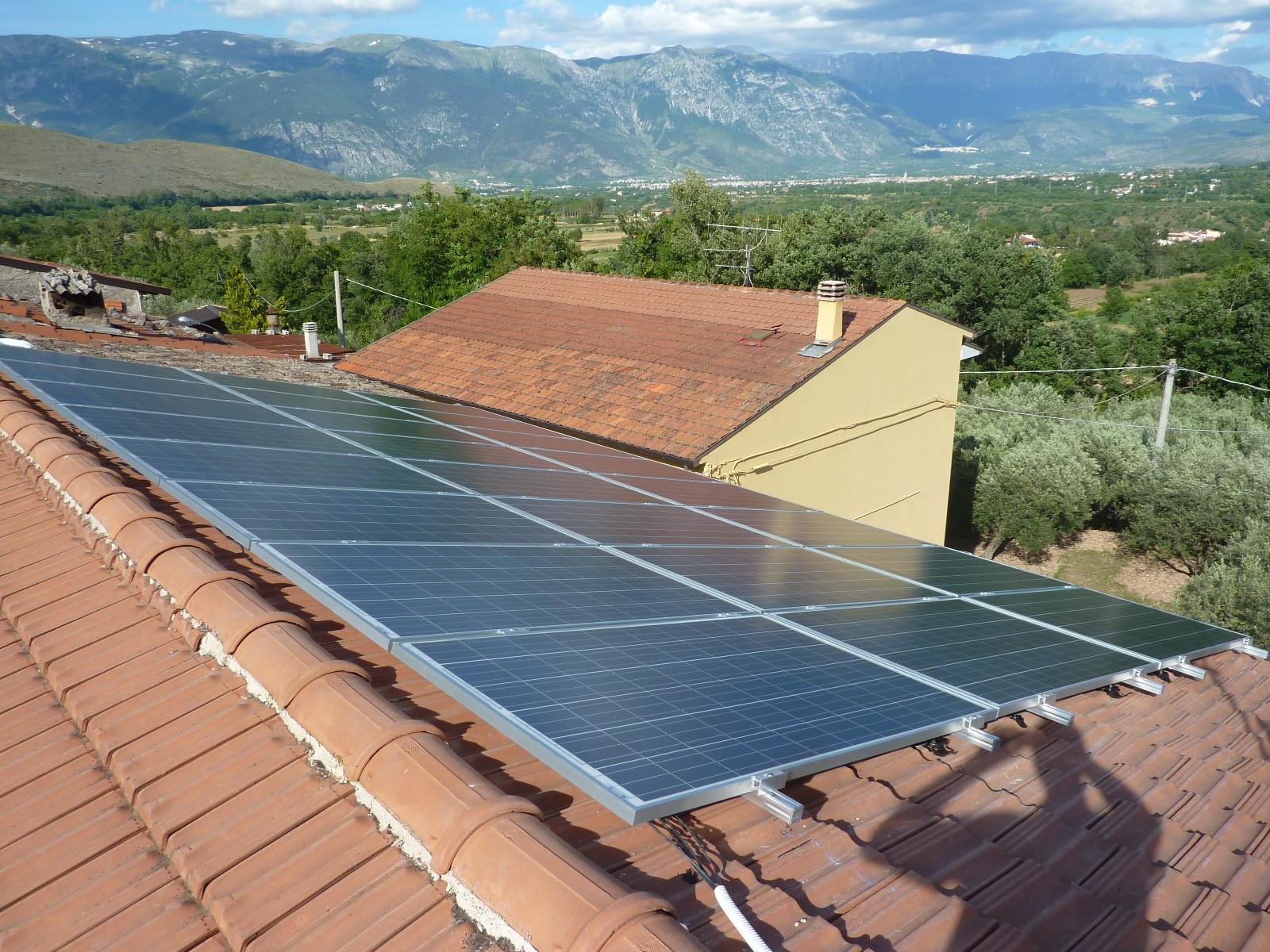 Impianto fotovoltaico a Bugnara (6kW).